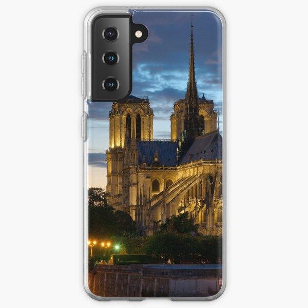 Cathédrale Notre-Dame de Paris la nuit Coque souple Samsung Galaxy
