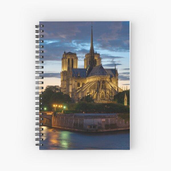 Cathédrale Notre-Dame de Paris la nuit Cahier à spirale