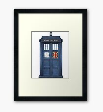 Police Box Union Jack Framed Print