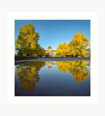 Place de la République en automne Impression artistique