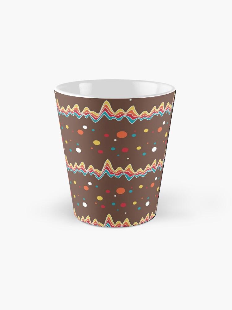 Alternate view of rainbow ecg and colorful confetti on chocolate Mug