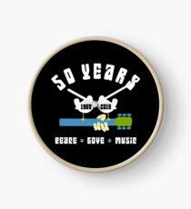 50 years Woodstock  Clock