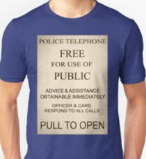 Police Box Sign T-Shirt