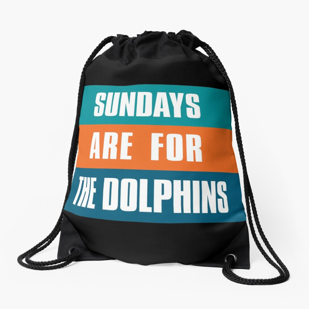 Sundays are for The Dolphins, Miami Football Fans Drawstring Bag