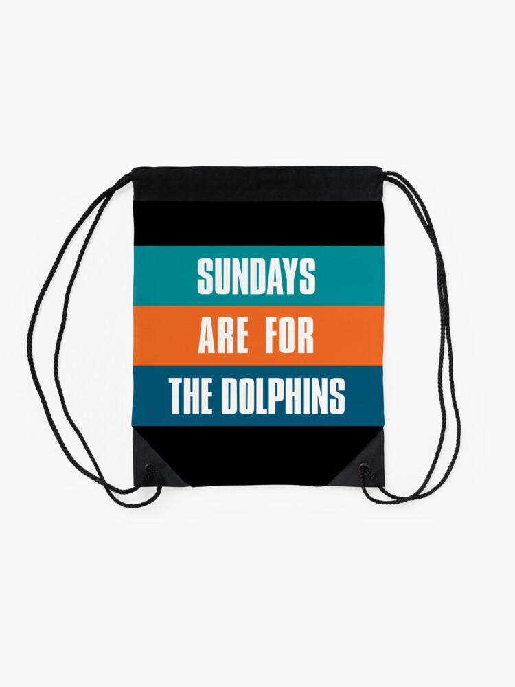 Alternate view of Sundays are for The Dolphins, Miami Football Fans Drawstring Bag