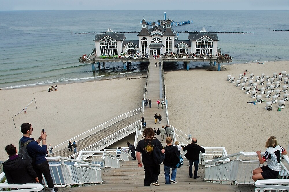 Pier of Sellin - Germany by Arie Koene