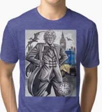 The Third Doctor Tri-blend T-Shirt