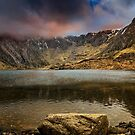 Idwal Lake Winter Sunset by Adrian Evans