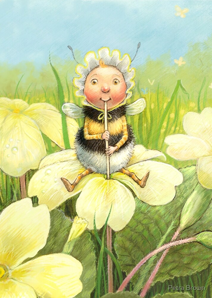 'Beebod' - cute bee-pixie by Petra Brown