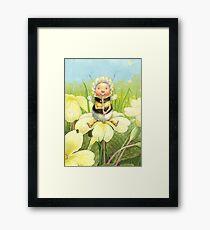 'Beebod' - cute bee-pixie Framed Art Print