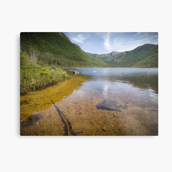 Lac aux Américains, in the Gaspésie National Park Metal Print