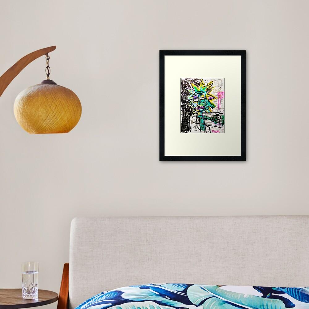 Rick Sanchez Riding Dirty Framed Art Print