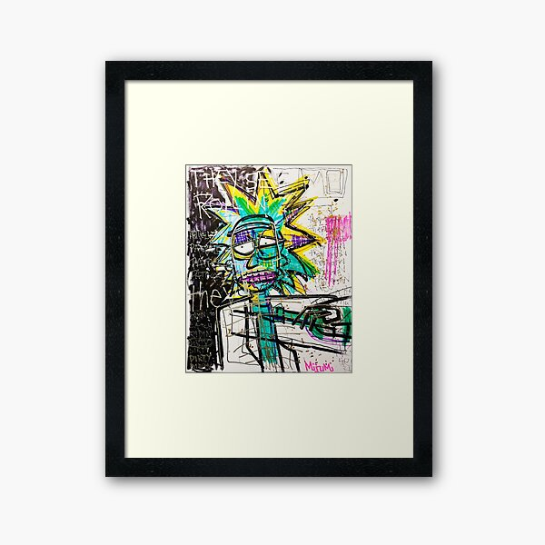 Rick Sanchez Riding Dirty Framed Art Print