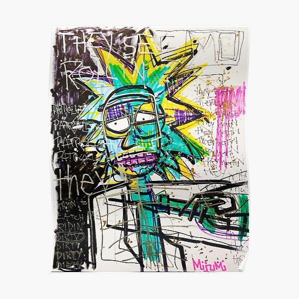 Rick Sanchez Riding Dirty Poster