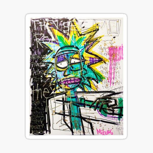 Rick Sanchez Riding Dirty Sticker