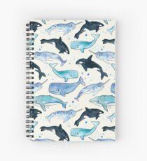 Wale, Orcas und Narwale Spiralblock