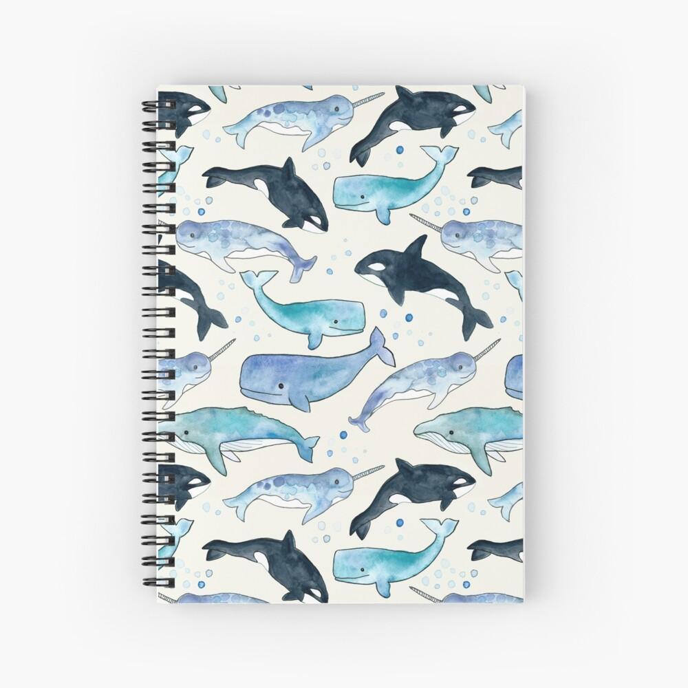 Ballenas, Orcas y Narwhals Cuaderno de espiral