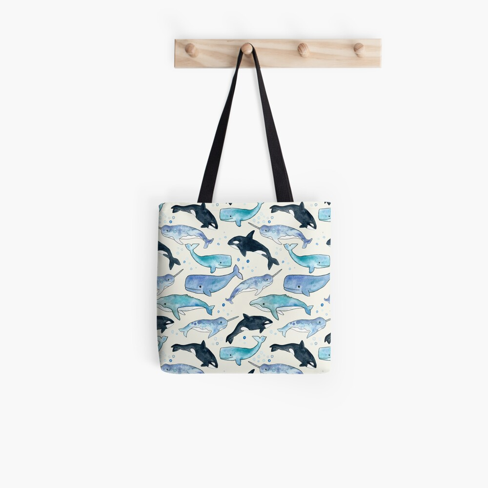 Wale, Orcas und Narwale Tote Bag