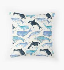 Cojín Ballenas, Orcas y Narwhals