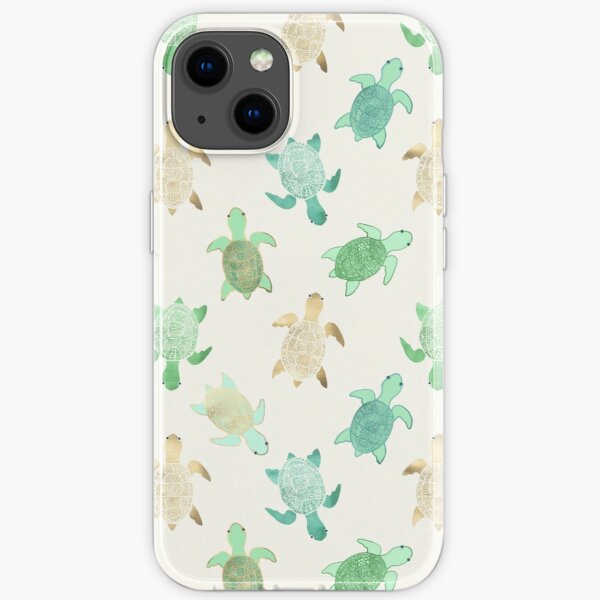 Gilded Jade & Mint Turtles iPhone Soft Case