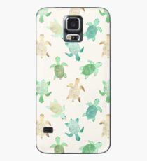 Vergoldete Jade & Mint Schildkröten Hülle & Klebefolie für Samsung Galaxy