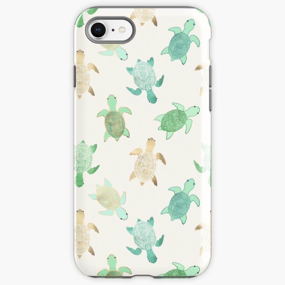 Gilded Jade & Mint Turtles iPhone Case & Cover