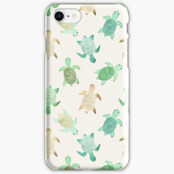 Gilded Jade & Mint Turtles iPhone Snap Case