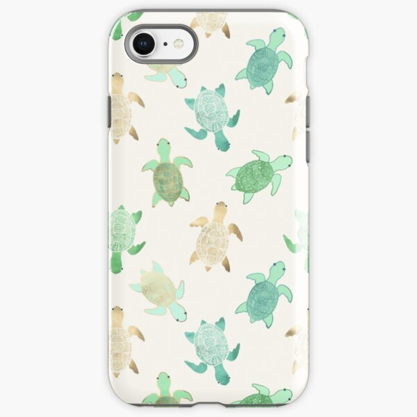 Gilded Jade & Mint Turtles iPhone Tough Case