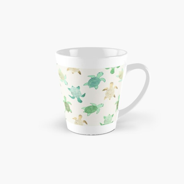 Gilded Jade & Mint Turtles Tall Mug