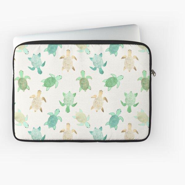 Gilded Jade & Mint Turtles Laptop Sleeve