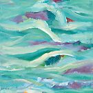 Aqua Seascape by Maria Meester by Maria Meester