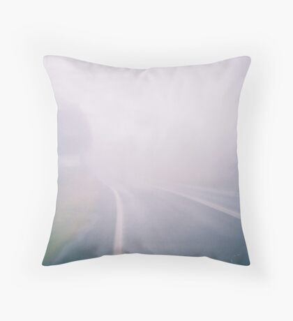 Misty Mountaintop. Throw Pillow