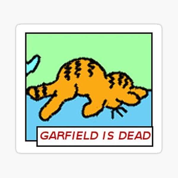 Garfield Is Dead Sticker By Auroracelery Redbubble
