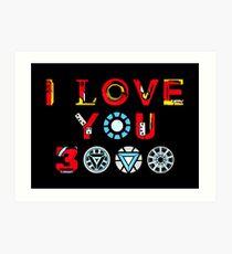 Ich liebe dich 3000 v3 Kunstdruck