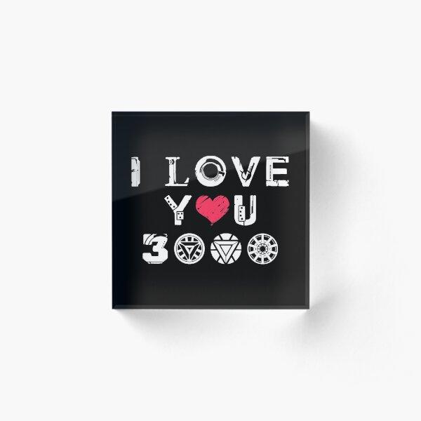 I Love You 3k v2 Acrylic Block