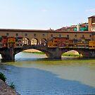 Arno River Quay IV (The Ponte Vecchio) by Denis Molodkin