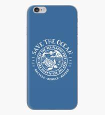 Speichern Sie das Meer - halten Sie das Meer plastisch - Schildkrötenstrandszene iPhone-Hülle & Cover