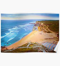 Ericeira beach july 2015 sunset Poster