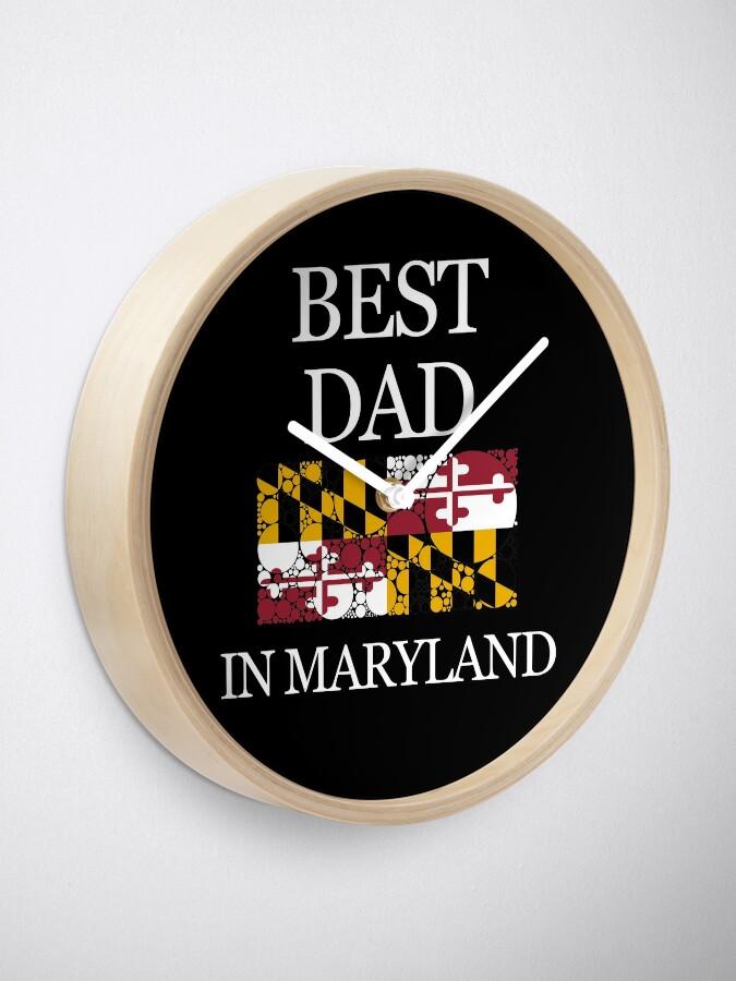 Vista alternativa de Reloj El mejor diseño de la bandera del estado de los círculos de Maryland en Maryland