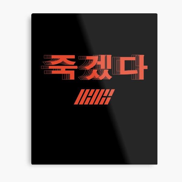 KPOP iKON SONG KILLING ME TSHIRT/ HOODIE/ STICKER/ CASE Metal Print