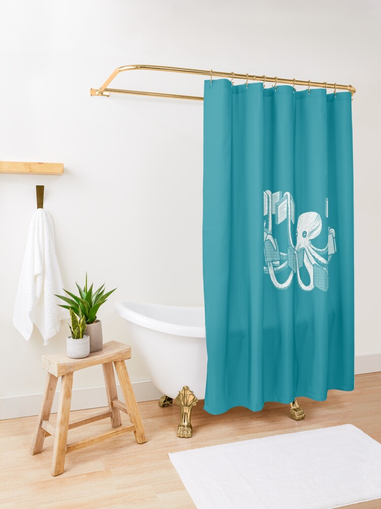 Alternate view of Armed With Knowledge Shower Curtain