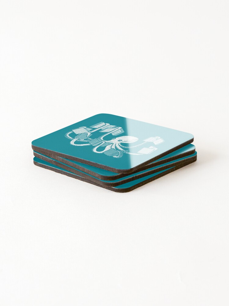 Alternate view of Armed With Knowledge Coasters (Set of 4)
