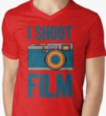 I Shoot Film - Vintage Camera Design Men's V-Neck T-Shirt