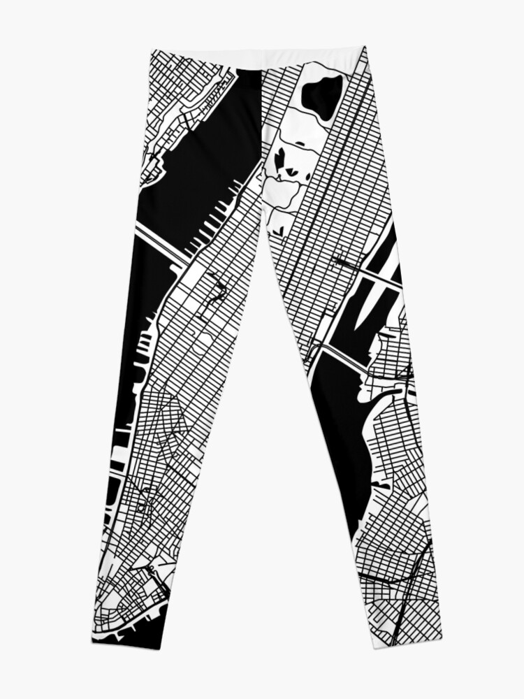 New York City Map City Map Poster Black and White, USA Gift Printable,  Modern Map Decor for Office Home Living Room, Map Art, Map Gifts   Leggings