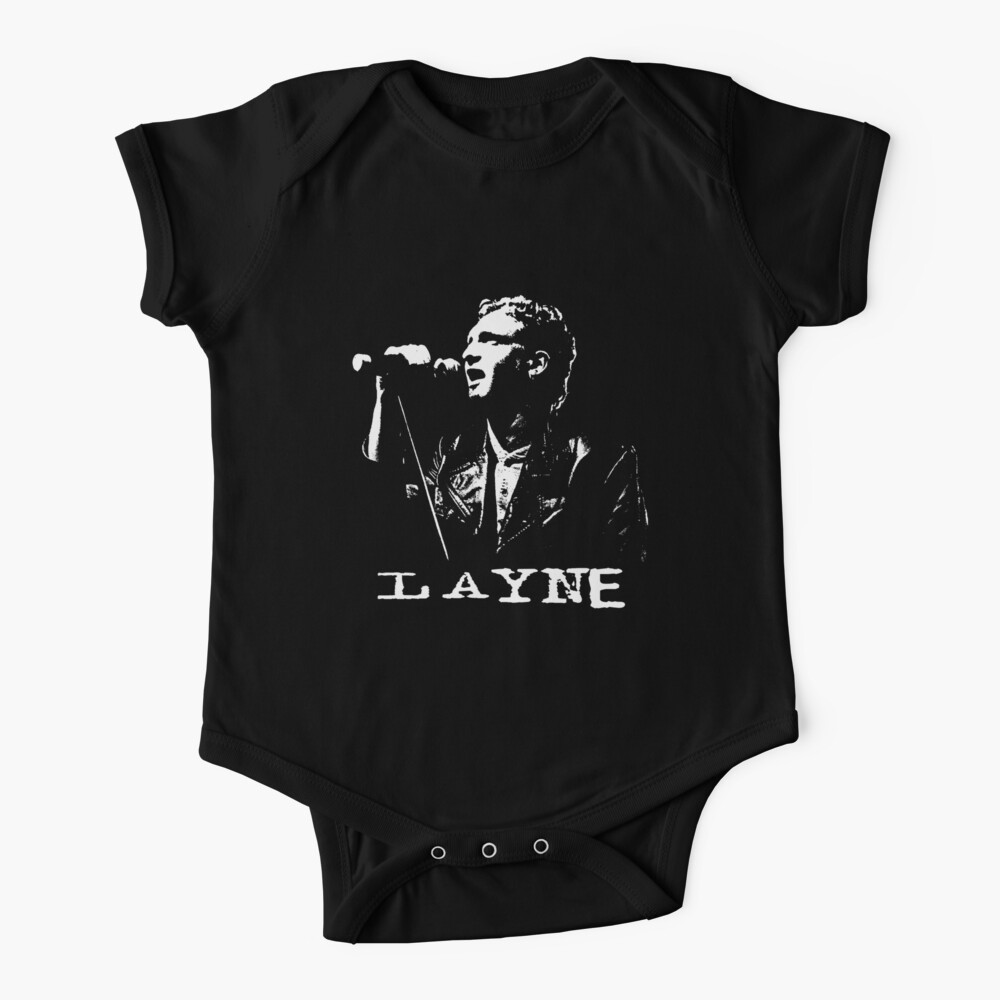 Layne - in White Stencil-1 Baby One-Piece