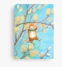 Catkin - cute pussy-willow-pixie Metal Print