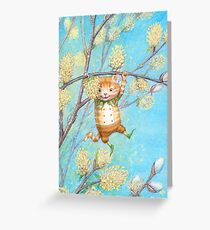 Catkin - cute pussy-willow-pixie Greeting Card