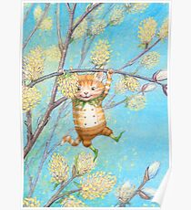 Catkin - cute pussy-willow-pixie Poster