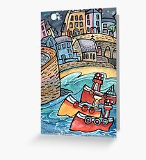 Fishing boats, Tenby Wales Greeting Card