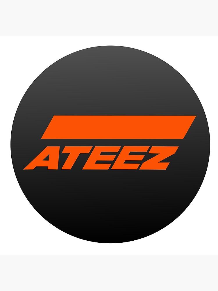 Ateez Logo Atiny Fan Design Greeting Card By M3g4merch Redbubble